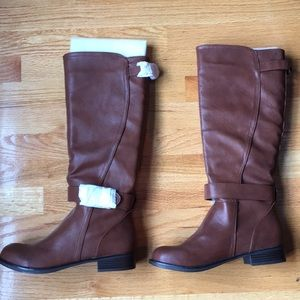Shoes - NEW Tall Chestnut Faux Leather Boots